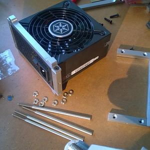 PSU cradle assembly